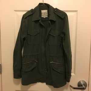 BB Dakota Military Cargo Utility Jacket Cotton